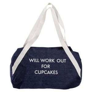 Denim Gym Bag WILL WORK OUT FOR CUPCAKES